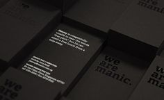 Manic Namecards 2011 by Ade Chong, via Behance