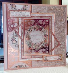 Christmas Card (86) - 8inch x 8inch - Hunkydory 'Festive Splendour - Glistening Garland'