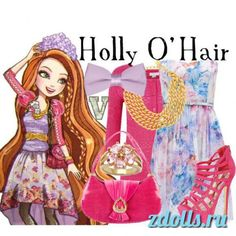 ever after high polyvore | Holly и Poppy O'Hair (дочери Рапунцель ...
