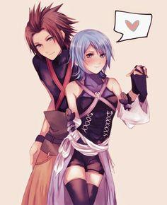 Aqua x Terra Terra Kingdom Hearts, Kingdom Hearts Games, Kingdom Hearts Fanart, Kh Birth By Sleep, Anime Couples, Cute Couples, Kindom Hearts, Aqua, Shall We Date