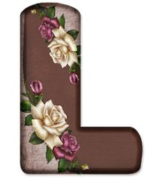 Floral Font, Minnie Png, Flower Alphabet, Name Art, Flower Art, Fonts, Scrapbook, Letters, Rose