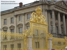 Versailles Gate, Palace of Versailles Versailles France.  Not only is this probably the most famous & elegant palace in th world, it is also the symbol of the absolute monarcy in France
