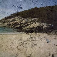 Tent-Camera Image on Ground: Sand Beach and Rocks.Acadia National Park, Maine - March, 2010 by Abelardo Morell