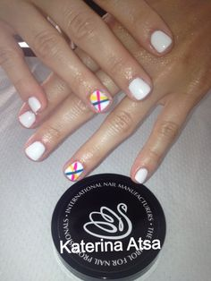 Gelavish  Innocence  Stripes  #pink #blue #yellow  @INM Nails @NAILS Magazine @Nail Tech Event of the Smokies