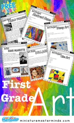 First Grade Art Project and Lesson Book