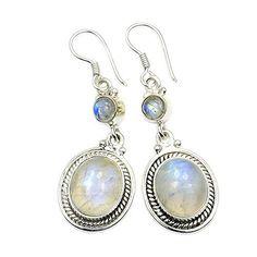 Sterling Silver Moonstone Dangle Earrings  Price : $33.95 http://www.silverplazajewelry.com/Sterling-Silver-Moonstone-Dangle-Earrings/dp/B00XOFJXLU