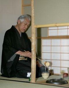 A lesson in Chanoyu (Japanese tea gathering)
