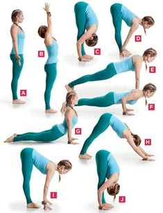 I love to start the morning with these poses. Sun Salutations