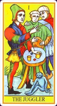 Example card from the Dame Fortune's Wheel Tarot. DISCOVER MORE: http://www.tarotacademy.org/dame-fortunes-wheel-tarot-english-and-spanish-edition/