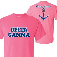 Delta Gamma Standard T-Shirt - Drop Anchor! Design (small, safety pink) VictoryStore http://www.amazon.com/dp/B00IN6UM6A/ref=cm_sw_r_pi_dp_d637vb1XV4E4N