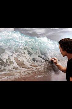 Joel Rea e il suo iperrealismo, quando la pittura supera la fotografia. Realistic Paintings, Nature Paintings, Oil Paintings, Hyperrealism Paintings, Amazing Paintings, Amazing Artwork, Original Paintings, Fine Art, Ocean Waves