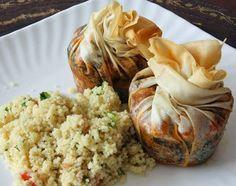 A Seasonal Veg Table: Vegan Moroccan Tagine Flaky Filo Pies