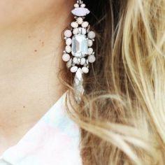 White/silver earrings ~ ModeMusthaves