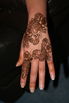 I am thinking this is henna and I love it and have always wanted to get this done.