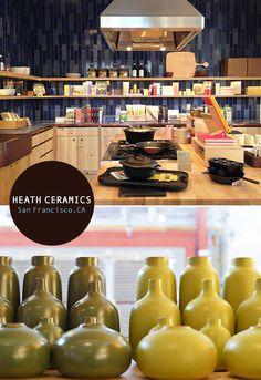 Heath Ceramics at the Ferry Building and in Potrero Hill, San Francisco