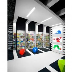 Viewing World Kids Books Showroom, Retail, Bookstore at A' Design Award. Id Design, Design Logo, Booth Design, Interior Design Books, Design Furniture, Kids Store, Toy Store, Visual Merchandising, Bookstore Design