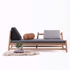 Pita: A Modern, Multifunctional Daybed for Any Room (Design Milk) Sofa Furniture, Cheap Furniture, Furniture Plans, Rustic Furniture, Living Room Furniture, Modern Furniture, Furniture Design, Furniture Stores, Antique Furniture