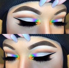 Make-up 28 pretty rainbow makeup ideas 62 Buying Gently Used Baby Clothing Article Body: Remember th Rainbow Eye Makeup, Colorful Eye Makeup, Makeup For Green Eyes, Blue Eye Makeup, Smokey Eye Makeup, Eyeshadow Makeup, Rainbow Eyes, Makeup Goals, Makeup Inspo