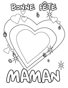 Looking for a Coloriage Imprimer Bonne Fete Maman. We have Coloriage Imprimer Bonne Fete Maman and the other about Coloriage Imprimer it free. Mothers Day Crafts, Crafts For Kids, Puffy Paint, Silhouette Portrait, Free Hd Wallpapers, Good Company, Mom And Dad, Parents, Coloring Books
