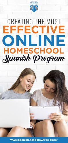 HSA Creates the Most Effective Online Homeschool Spanish Program Spanish Language Learning, Teaching Spanish, Learning Resources, Student Learning, Curriculum, Homeschool, Spanish Online, Social Media Detox, Second Language