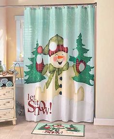Snowman Bathroom Collection Christmas Winter Holiday Decor Let It Snow Home Bath