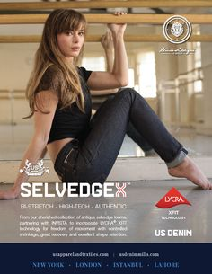 SELVEDGEX BY US DENIM: BI-STRETCH – HIGH-TECH – AUTHENTIC From our cherished collection of antique selvedge looms, partnering with INVISTA to incorporate LYCRA XFIT technology for freedom of movement with controlled shrinkage, great recovery and excellent shape retention. #denim #fashion #trend #sustainable #usdenim #usgroup #usapparel #fashionusdenim #innovationusdenim #usfashion #denimpv #kingpins #kingpinsshow #kingpinsshow2017 #newyork #nyc #innovation #sustainability