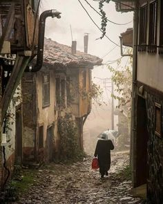 Cumalıkızık village - Bursa -Turkey // Photo by Özden Sözen. Relax with these backyard landscaping ideas and landscape design. City Landscape, Landscape Paintings, Landscape Design, Turkey Photos, Brick And Stone, People Of The World, Old Houses, Beautiful Places, Scenery