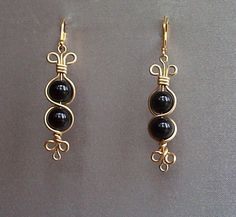 earrings with black glass beads discover more at http://www.eozy.com/earrings