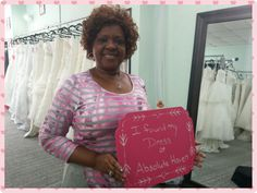 Say hello to our beautiful customer who found her gala dress at Absolute Haven Bridal.