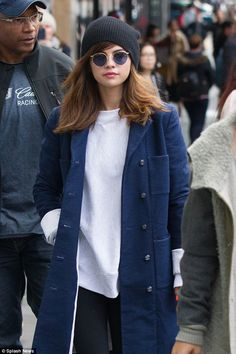 Under wraps: Ensuring she kept warm in the midst of the Australian winter, the Can't Keep My Hands To Myself singer layered her look with…