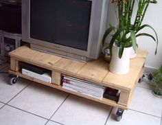 Would you like a fashionable pallet table that catches your eyes? We've collected some great pallet table ideas from the Internet, and we're happy to show you. Wooden pallets are versatile and allow you to create almost any type of furniture. Tv Pallet, Wooden Pallet Projects, Pallet Crafts, Pallet Ideas, Pallet Jack, Pallet Lounge, Pallet Benches, Pallet Walls, Pallet Couch