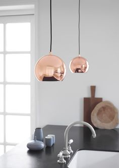 Ball pendant copper. Design: Benny Frandsen