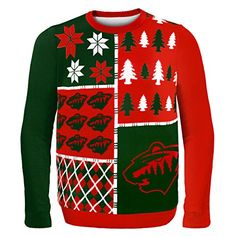 NHL Minnesota Wild Busy Block Ugly Sweater,Green Forever Collectibles http://www.amazon.com/dp/B00P0V3VFK/ref=cm_sw_r_pi_dp_uBPBub03J73C2