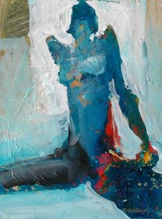 Robert Burridge/ Seated Nude, 9x12 inches, acrylic on canvas