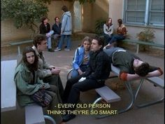 """When they didn't want to hear what any authority figures had to say. 19 Times """"Freaks And Geeks"""" Perfectly Portrayed High School Film Aesthetic, Quote Aesthetic, Freeks And Geeks, Just My Luck, Movie Lines, Film Quotes, Teenage Dream, Pretty Words, Mood Quotes"""