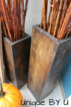 DIY Wooden Vases  Fall Decor