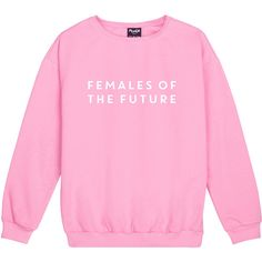 females of the future SWEATER JUMPER women top sweatshirt tumblr... ($21) ❤ liked on Polyvore featuring tops, gothic tops, hipster tops, star print top, pink top and punk tops