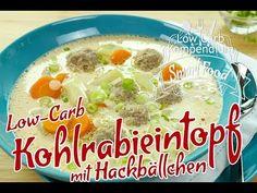 Low-Carb Kohlrabieintopf mit Hackbällchen - herzhaft & lecker