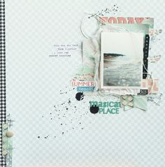 #papercraft #scrapbook #layout. magic place, via Flickr.