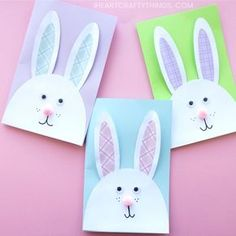 We have the most adorable DIY Easter Card to share with you today. This cute bunny card is especially easy to make with the help of our downloadable template. It makes a great afternoon Easter craft and is sure to delight anyone who receives it as a cute DIY Easter Card.