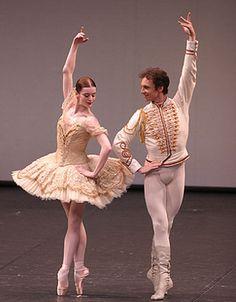"Aurelie Dupont (Paquita) & Manuel Legris (Lucien d'Hervilly) with Paris Opéra Ballet in ""Paquita"""