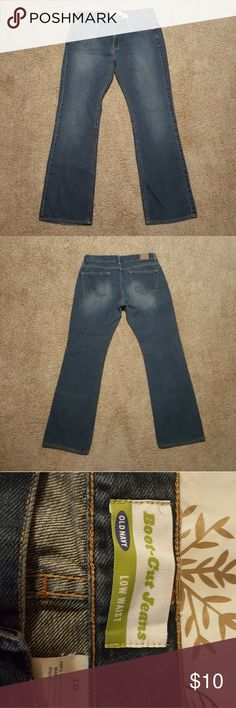 old navy jeans old navy jeans size 10  boot cut low waist clean no stains 30 in inseam Old Navy Jeans Boot Cut
