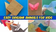 Easy Origami for Kids - Animals with Video Instructions