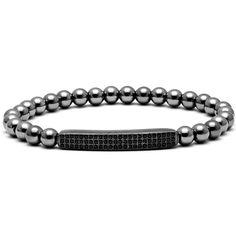3 Rows Micro inlay zircon beads Bracelets Men Woman Zircon Bar Bangle Charm 6mm Titanium Steel Beads Bracelets Geometric Bangles WOW Visit us