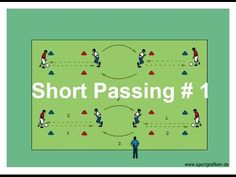 Soccer Pass And Move Drills For Practice - YouTube #soccerpractice
