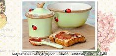 jam pots with ladybirds - Google Search
