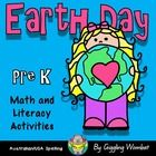 Earth Day Math and Literacy Activities Pre K by Giggling Wombat | Teachers Pay Teachers