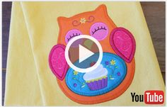Free video with instructions on how to embroider a multi-piece heirloom applique design.