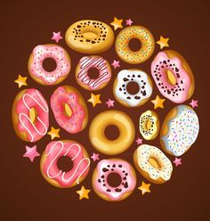 Doughnut with stars vector material 01 - https://www.welovesolo.com/doughnut-with-stars-vector-material-01/?utm_source=PN&utm_medium=wcandy918%40gmail.com&utm_campaign=SNAP%2Bfrom%2BWeLoveSoLo