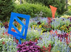 Sculpture Garden. Colorful and perfect for your modern landscape design!